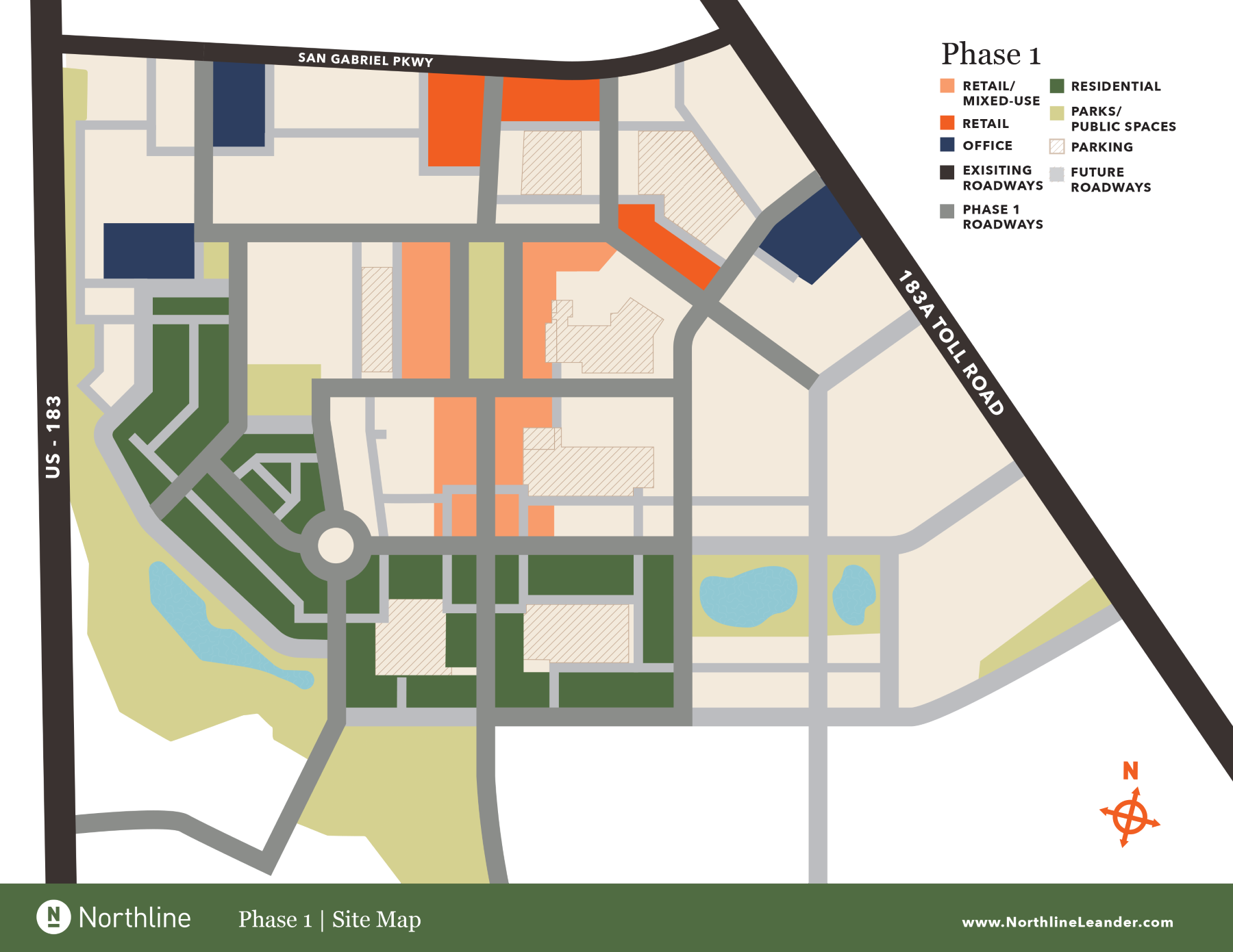 Northline Phase 1 Site Map